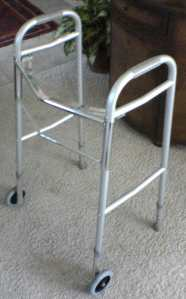 A walking frame, not much liked by Copstick