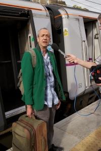After my Edinburgh Fringe chat show in 2013, Arthur Smith left Edinburgh (Photo by  Brian Higgins)