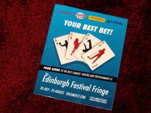 The Big Four's Edinburgh Fringe 2014 brochure, as launched
