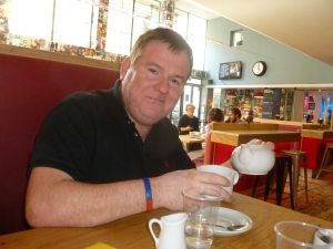 John Ryan chatted to me over tea in the Soho Theare Bar