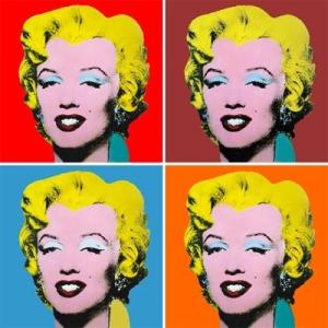 The iconic Warhol image of Marilyn Monroe