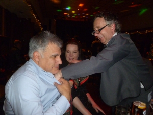 David Don't tries to remove Lewis Schaffer's bra (perhaps you had to be there)