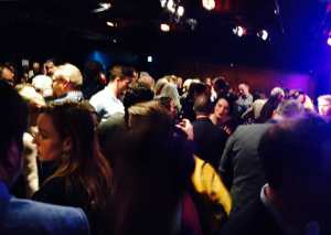 The throbbing downstairs launch at Soho Theatre yesterday