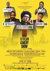 The monthly Africa Comedy Show last night
