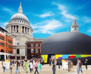 The City of London Festival's new inflatable bowler hat venue