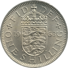 A 1963 UK shilling, as in Mungo 2's riddle