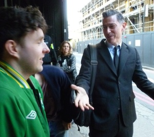David Mills (right) with Gareth Ellis