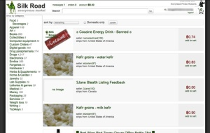 One drug-selling page on the Silk Road hidden website, 2012