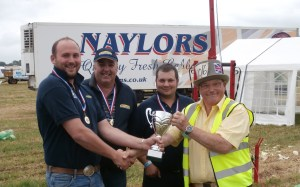 2014 Cabbage Hurling winners with John Ward (lorry behind had 3½ tons of cabbages)