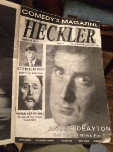 The cover in 1992 - note Stephen Fry, top left