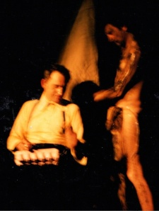 Ian Hinchliffe (left) and Kevin O'Connor in Toronto c 1985 (Photograph by Anna Smith)