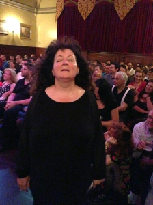 Janey Godley at the Malcolm Hardee Comedy Awards Show last year (Photo by Stephen O'Donnell)