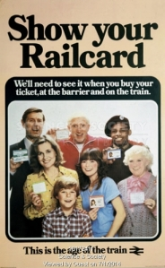 Unlucky British Rail also used Jimmy Savile (centre back) in their ads