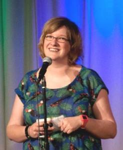 Amused Moose winner Sarah Millican
