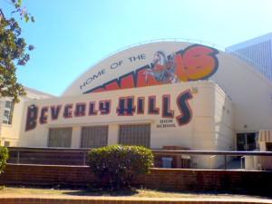 Beverly Hills High School's gym