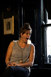 Adrienne Truscott not standing on her head (Photo by Garry Platt)