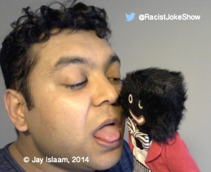 Jay and his golliwog, as seen on his website