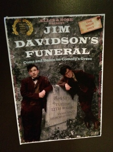 Jim Davidson's Funeral - put the 'ham' into shambolic