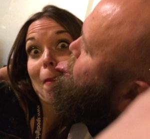 Juliette Burton braves the tongue of Bob Slayer