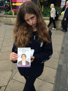 Sad-eyed Kate Talbot, the perfect flyerer, 2014