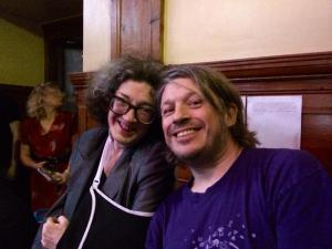 Kate Copstick with Richard Herring last night (Photograph by Stephen O'Donnell)