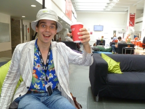 Joz Norris doing a passable impression of Hunter S Thompson