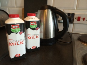 Things you can buy for £1 in Poundland - two cartons of milk. (This become relevant later)