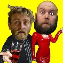 Tim Fitzhigham (left) and Bob Slayer host the Fool Members Club