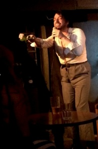 Wilfredo handed out roses to his last fans last night