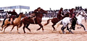 Buzkashi_Game (Photo by Gideon Tsang via Wikipedia)