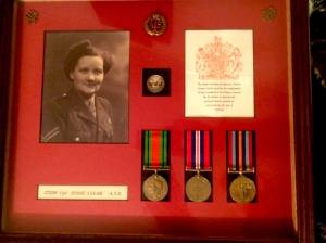 Lou's mum and her Second World War medals