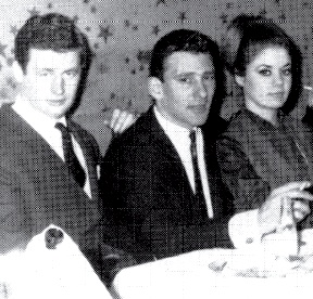 Micky Fawcett (left) with Reggie Kray and Frances