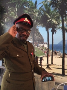 President Obonjo yesterday in Streatham