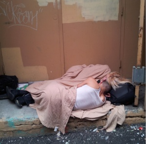 """Anna's caption: """"Even the homeless people are photogenic..."""""""