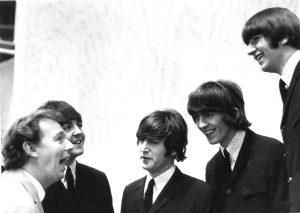 TV producer Johnnie Hamp with The Beatles at their height