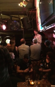 Cheep Laughs: Darren Walsh's book launch on the River Thames last night