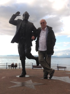 Me and Eric Morecambe on the seafront in happier days (Photo by M-E-U-F)