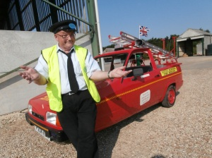 John Ward with small but effective fire engine
