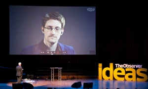 Edward Snowden in Moscow yesterday