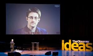 Edward Snowden in Moscow yesterday