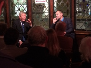 Alan Johnson (left) at the Sohemian Society last night