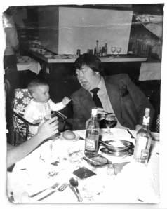 Matt Roper with his dad George Roper