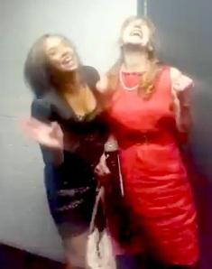 Anna (right) and Natasha Nault go beep
