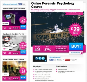 Save 87% now on an online Crime Scene Investigation course!