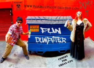 Brandon Burkhart with Naomi with The Pun Dumpster site