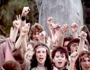 A scene from Nigel Kneale's final Quatermass serial in 1979