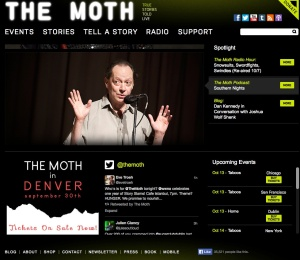 The Moth has taken off in the US