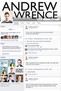 Andrew Lawrence's Facebook postings ruffled feathers