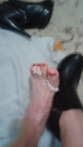 A rather fuzzy photo of Anna's foot