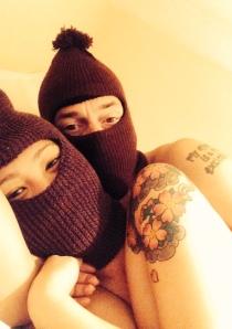 Chris Dangerfield and his girlfriend